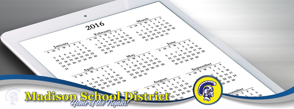 Printable list view calendars for the school year.