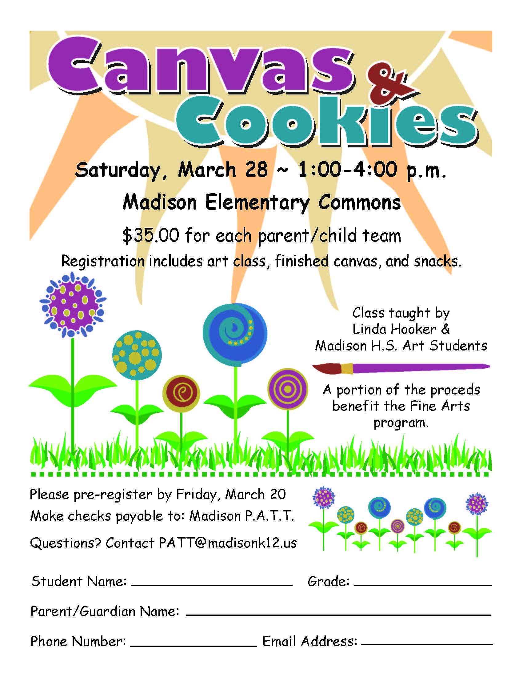 Madison School District | Canvas & Cookies Event Planned