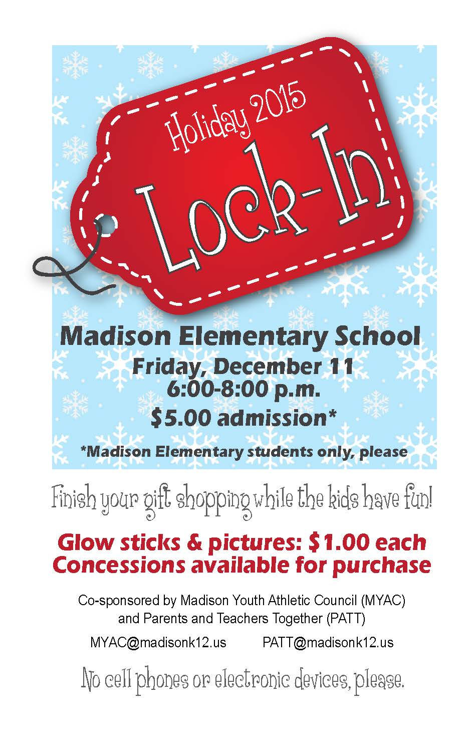 Madison School District | MYAC & PATT Holiday Lock-In