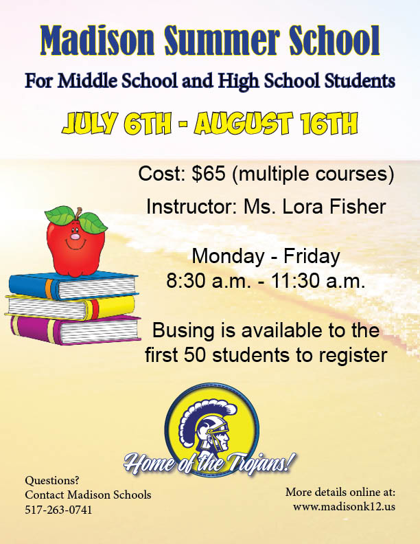 Madison School District | Summer School Available to Middle and ...