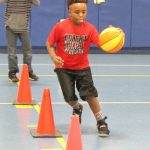 Darrin Garrison at the dribbling station