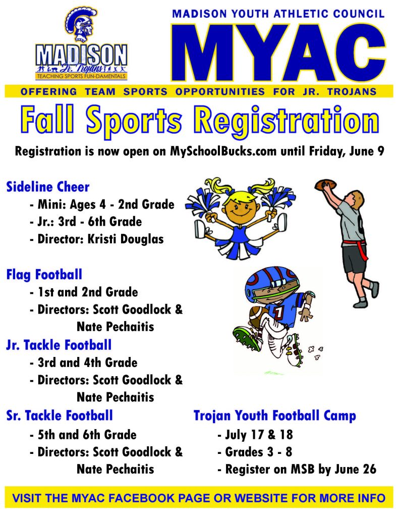 MYAC 2017 Fall Sports Registration