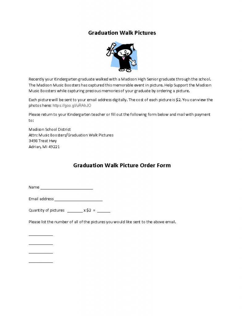 Graduation Walk Picture Order Form - final