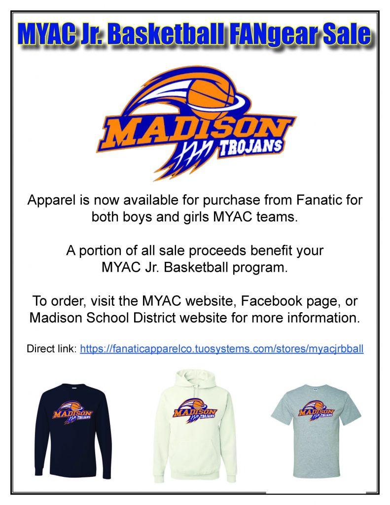 MYAC Jr. Basketball FANgear Flyer